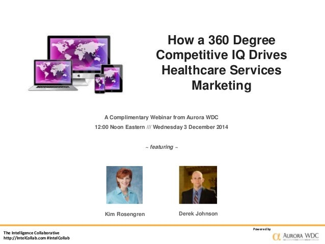 The Intelligence Collaborative  http://IntelCollab.com #IntelCollab  How a 360 Degree  Competitive IQ Drives  Healthcare S...