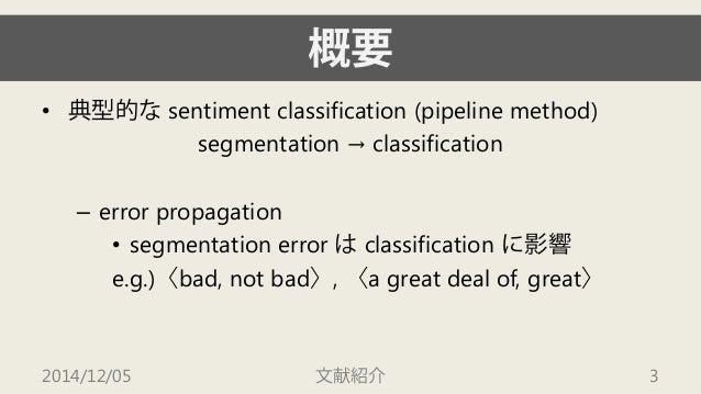 文献紹介:A Joint Segmentation and Classification Framework for Sentiment Analysis Slide 3