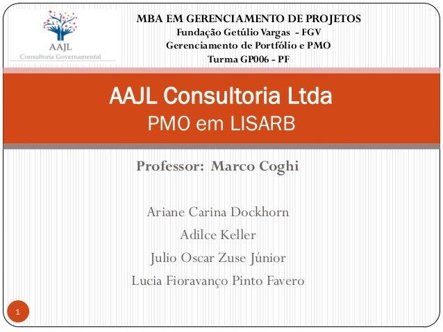 Professor: Marco Coghi Ariane Carina Dockhorn Adilce Keller Julio Oscar Zuse Júnior Lucia Fioravanço Pinto Favero AAJL Con...