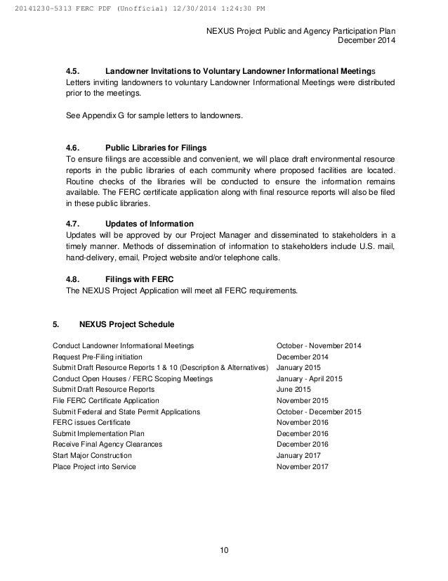 Nexus Gas Transmission Ferc Pre Filing Dec 30 2014