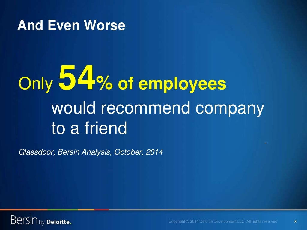 8 Only 54% of employees