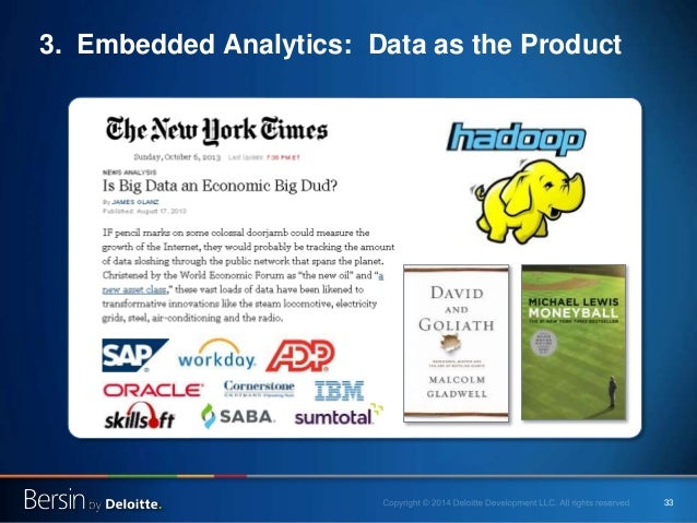 33 3. Embedded Analytics: Data as the Product