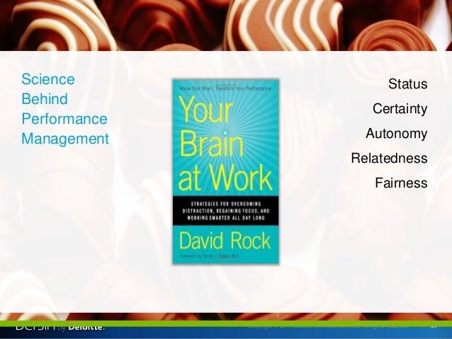 54 Science Behind Performance Management Status Certainty Autonomy Relatedness Fairness