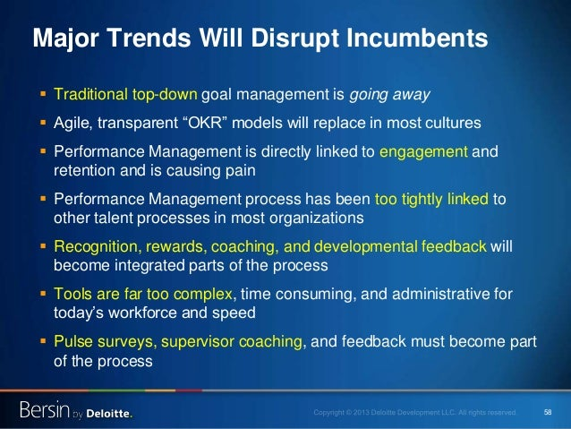 """58 Major Trends Will Disrupt Incumbents  Traditional top-down goal management is going away  Agile, transparent """"OKR"""" mo..."""