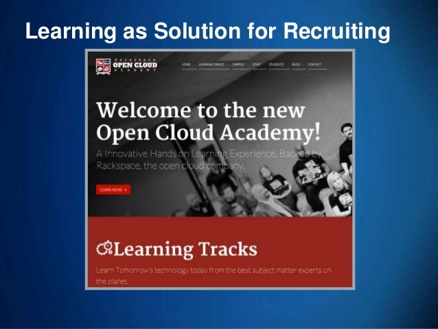 70 Learning as Solution for Recruiting