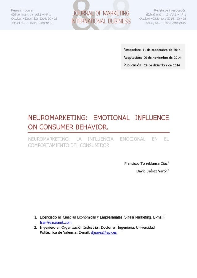 Neuromarketing: Emotional influence on consumer behavior