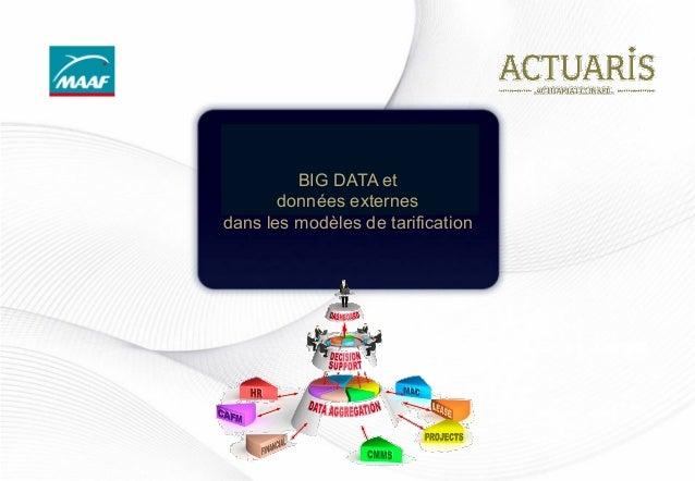 BIG DATA et données externes dans les modèles de tarification