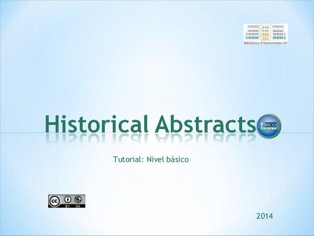 Tutorial: Nivel básico  2014