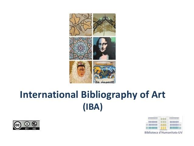 International Bibliography of Art (IBA)