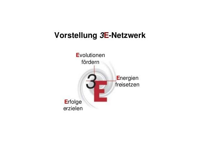 Quelle: 3E-Netzwerk 1 www.3E-Netzwerk.de Evolutionen fördern Energien freisetzen Erfolge erzielen Vorstellung 3E-Netzwerk
