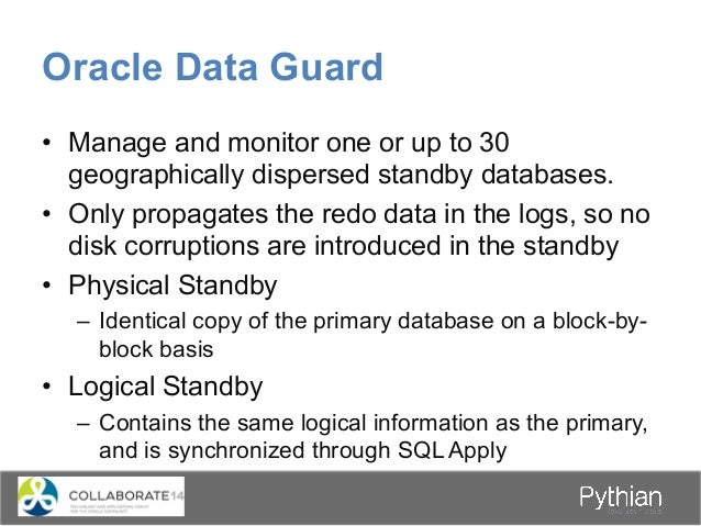 Oracle Data Guard Standby Redo Logs RFSNSA Primary Online Redo Logs Primary Database LGWR MRP Oracle Net Commit User Trans...