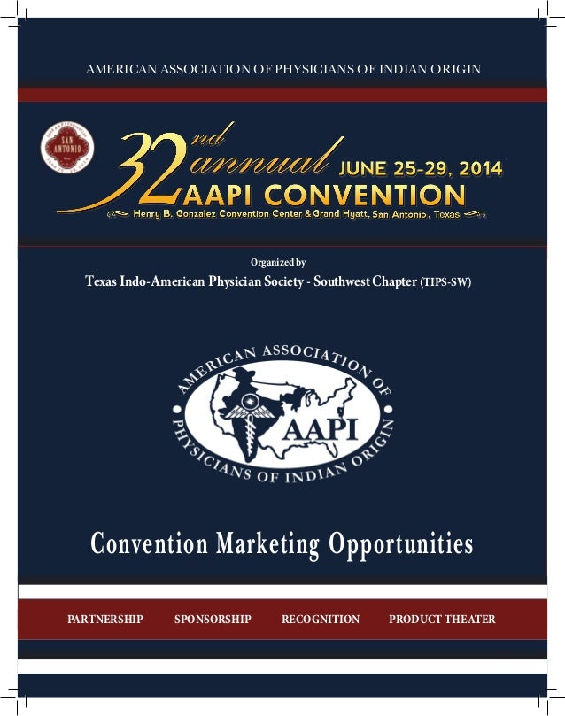 1 Convention Marketing Opportunities PRODUCT THEATERRECOGNITIONSPONSORSHIPPARTNERSHIP AMERICAN ASSOCIATION OF PHYSICIANS O...