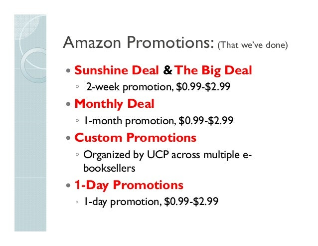 Cheap and Free: Evaluating Amazon's E-book Promotions Slide 2