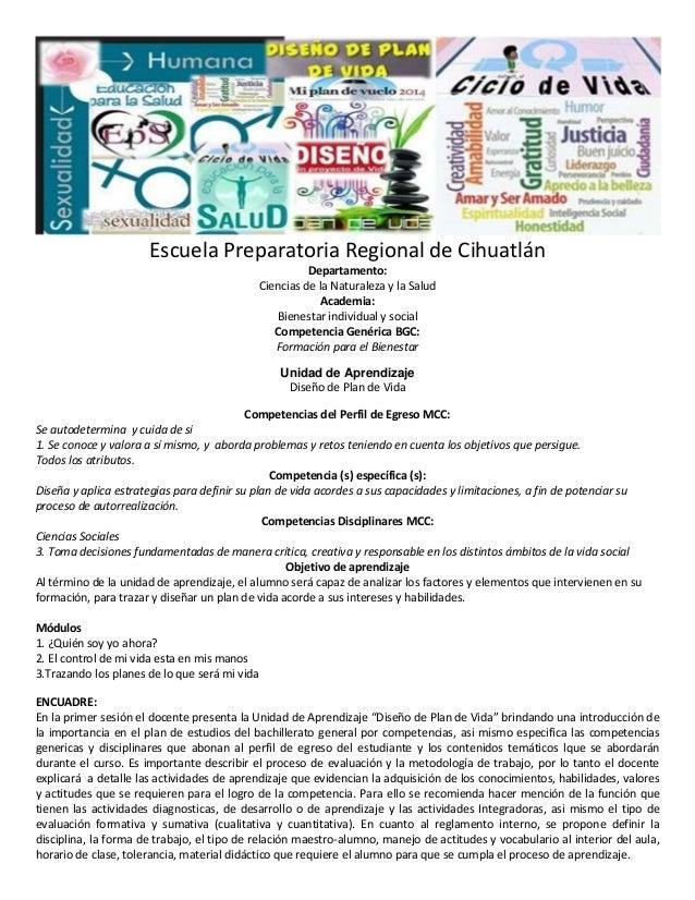 Escuela Preparatoria Regional de Cihuatlán Departamento: Ciencias de la Naturaleza y la Salud Academia: Bienestar individu...