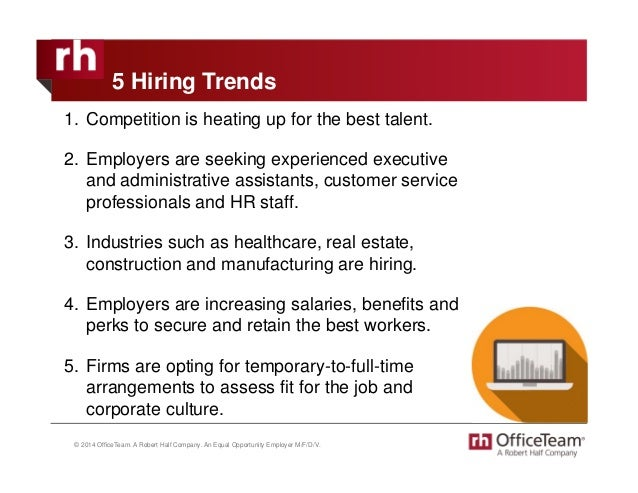 2015 Administrative Hiring And Compensation Trends