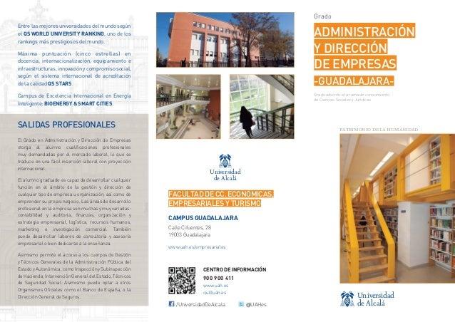 Grado Entre las mejores universidades del mundo según el QS WORLD UNIVERSITY RANKING, uno de los rankings más prestigiosos...