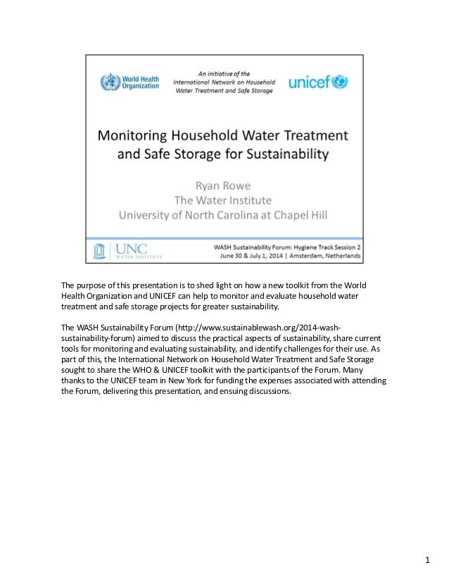 The purpose of this presentation is to shed light on how a new toolkit from the World  Health Organization and UNICEF can ...