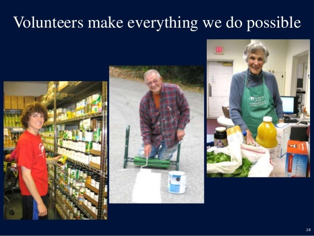 28 Volunteers make everything we do possible