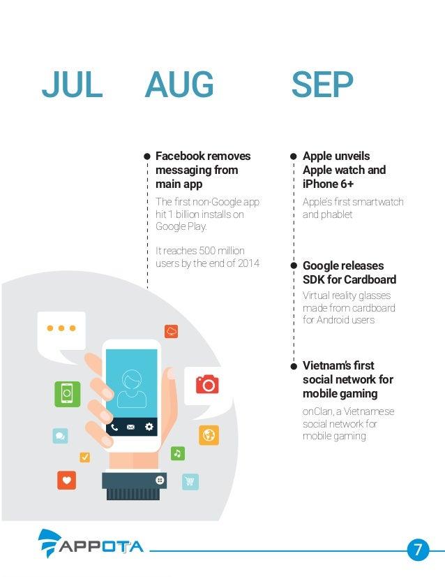 7 JUL Facebook removes messaging from main app The first non-Google app hit 1 billion installs on Google Play. It reaches 5...