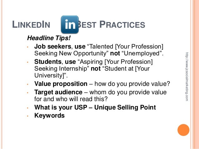 Using LinkedIn For Your Job Search