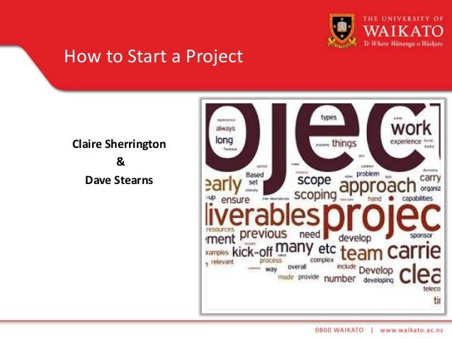 Claire Sherrington & Dave Stearns How to Start a Project