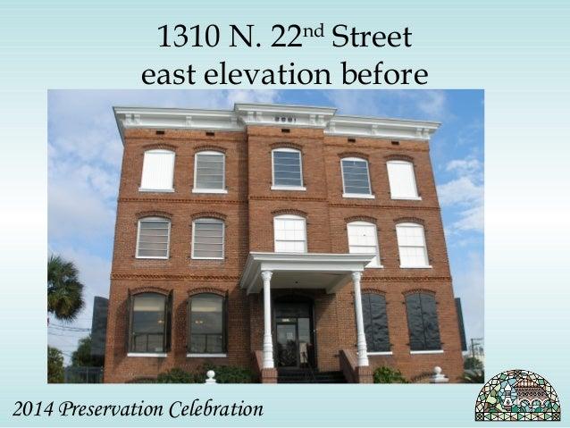 1310 N. 22nd Street  east elevation before  2014 Preservation Celebration