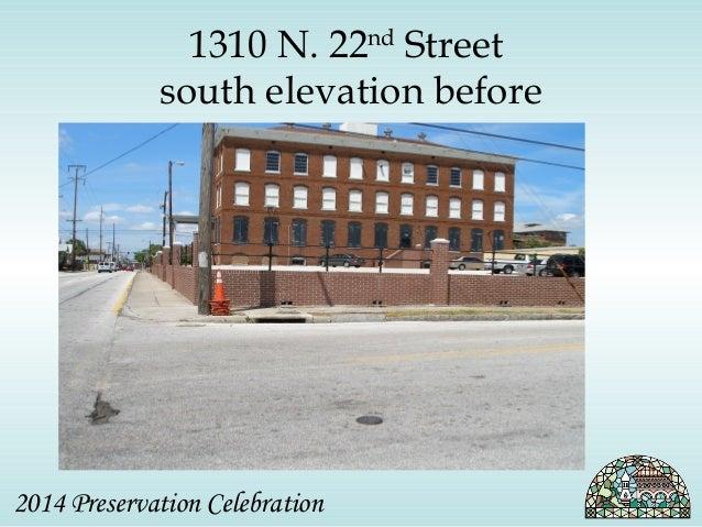 1310 N. 22nd Street  south elevation before  2014 Preservation Celebration