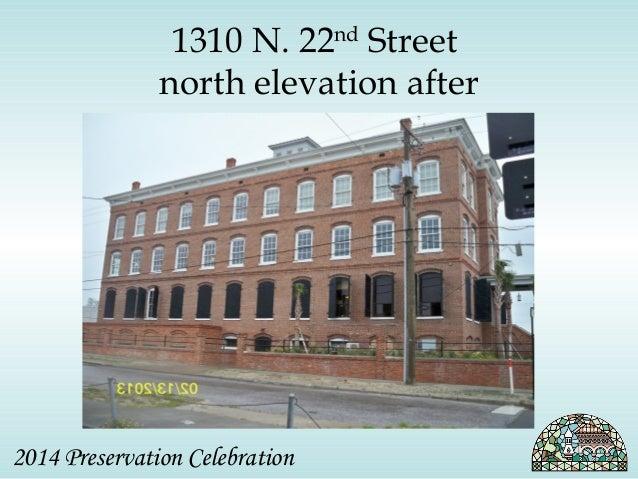 1310 N. 22nd Street  north elevation after  2014 Preservation Celebration
