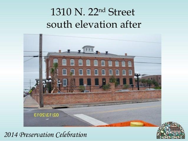 1310 N. 22nd Street  south elevation after  2014 Preservation Celebration