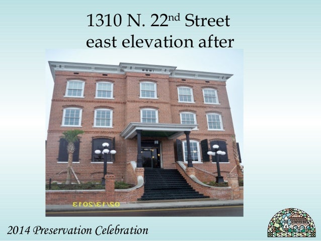 1310 N. 22nd Street  east elevation after  2014 Preservation Celebration