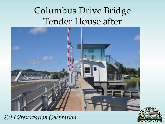 Columbus Drive Bridge  Tender House after  2014 Preservation Celebration