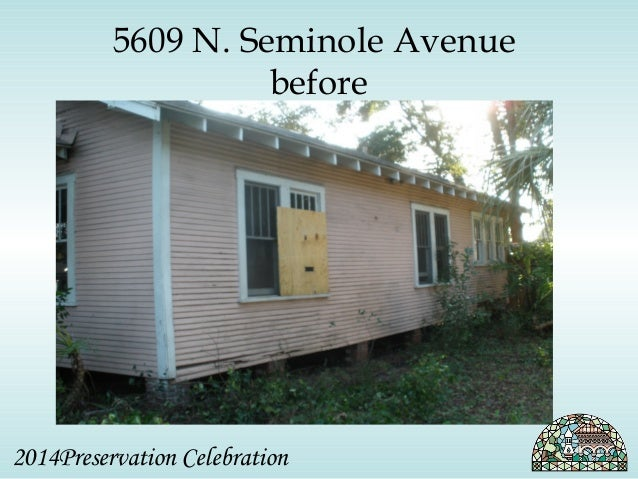 5609 N. Seminole Avenue  before  2014Preservation Celebration