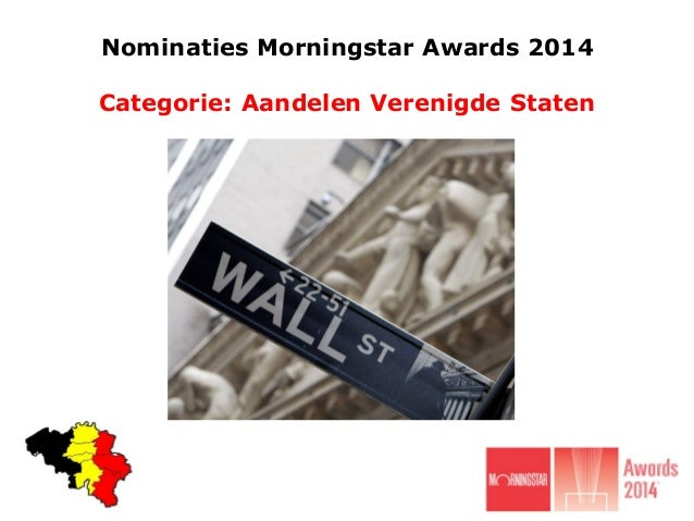 Nominaties Morningstar Awards 2014 Categorie: Aandelen Verenigde Staten