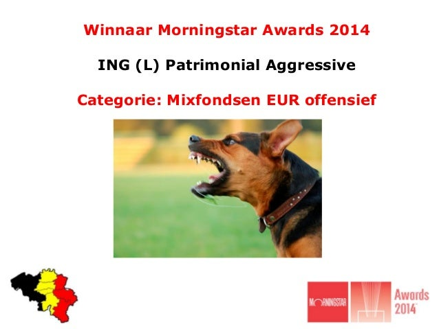Winnaar Morningstar Awards 2014 ING (L) Patrimonial Aggressive Categorie: Mixfondsen EUR offensief