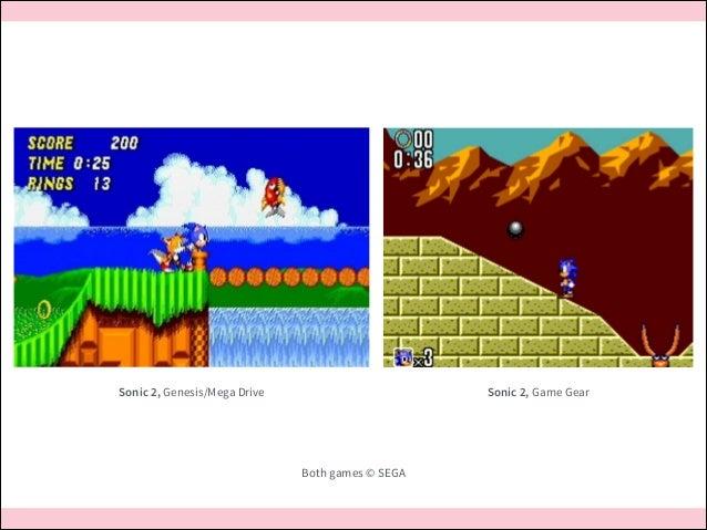 Sonic 2, Game Gear  Sonic 2, Genesis/Mega Drive  Both games © SEGA