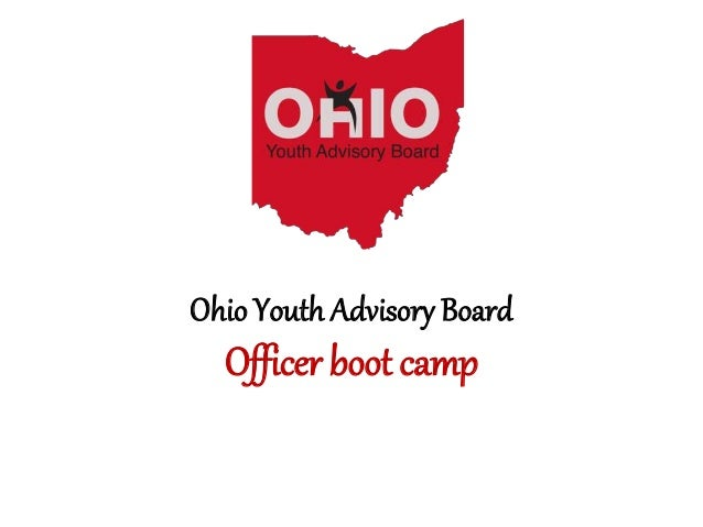 Ohio Youth Advisory Board Officer boot camp
