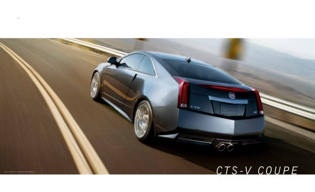 2014 Cadillac Cts V Digital Brochure