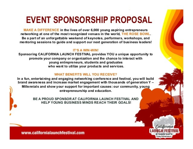 impact of brand sponsorship on a music festival July 25 presented with the help of the greater tacoma community foundation sponsorship proposal presented with the help of  success of the festival your title sponsorship package includes: • title recognition of your company and brand.