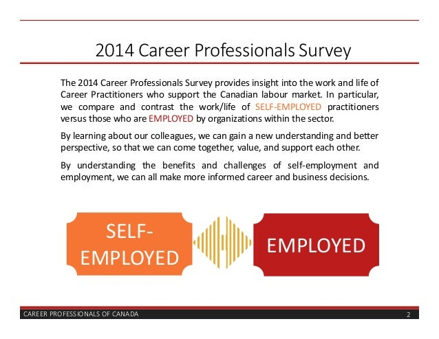 vocational surveys 2014 career professionals survey results 1316