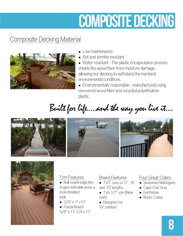 Harborware 2013 2014 catalog for How much does composite decking weigh