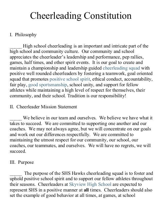 2014 Cheer Constitution