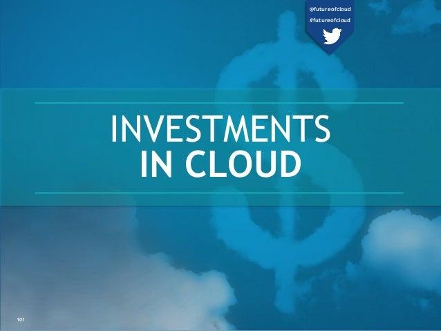 INVESTMENTS IN CLOUD 101 @futureofcloud #futureofcloud