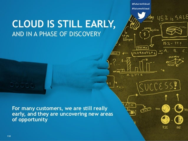 CLOUD IS STILL EARLY, AND IN A PHASE OF DISCOVERY For many customers, we are still really early, and they are uncovering n...