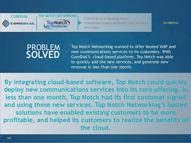 By integrating cloud-based software, Top Notch could quickly deploy new communications services into its core offering. In...
