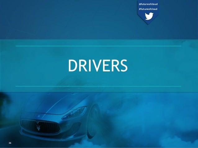 DRIVERS 26 @futureofcloud #futureofcloud