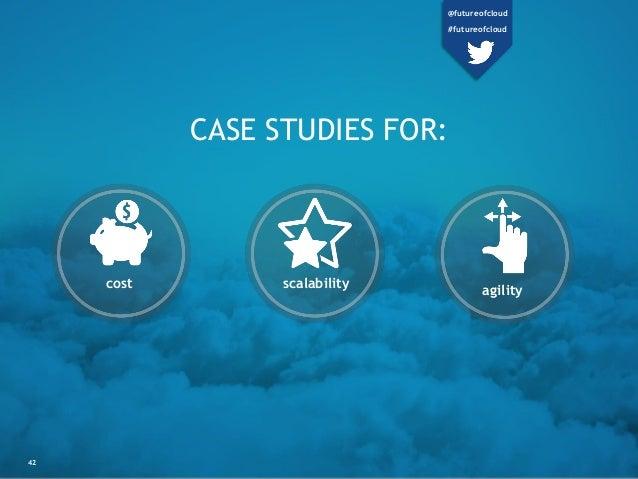 CASE STUDIES FOR: cost scalability agility 42 @futureofcloud #futureofcloud