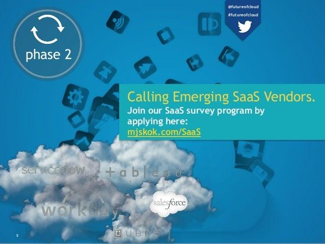 5 phase 2 Calling Emerging SaaS Vendors. Join our SaaS survey program by applying here: mjskok.com/SaaS @futureofcloud #fu...