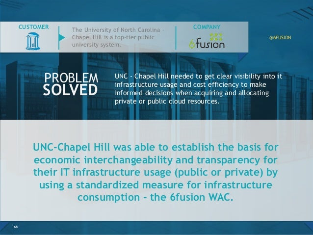 UNC-Chapel Hill was able to establish the basis for economic interchangeability and transparency for their IT infrastructu...