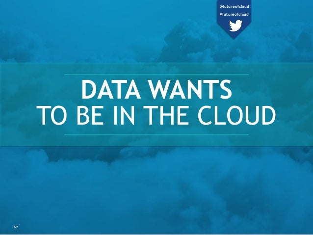 69 DATA WANTS TO BE IN THE CLOUD @futureofcloud #futureofcloud