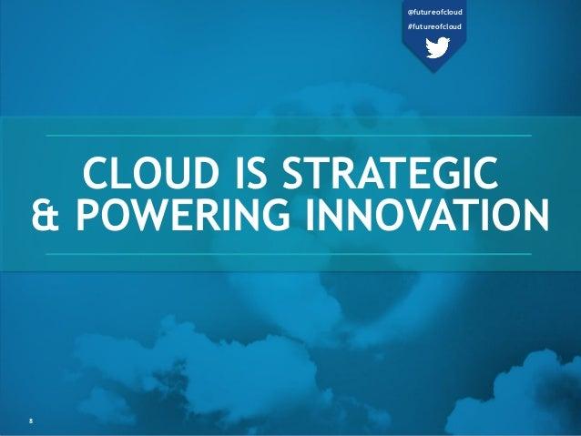 CLOUD IS STRATEGIC & POWERING INNOVATION 8 @futureofcloud #futureofcloud